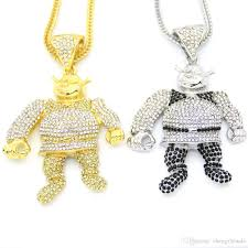 necklace pendant size images Wholesale bling bling iced out large size cartoon movie pendant jpg