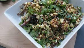 Summer Entertaining Recipes - fresh corn avocado and red quinoa summer salad recipe