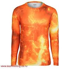 cool lava ls for sale hard wearing red orange print print eastbay evapor l s compression