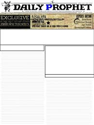 harry potter daily prophet newspaper template by dordafaye