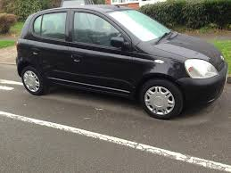 toyota yaris 1 0vvti 2000 black 2 owners 5 door long tax test 110k