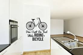 vintage bike you can t be sad while riding a bike vinyl matte vintage bike you can t be sad while riding a bike vinyl matte black wall decal by designdivil wall decals