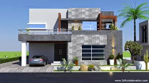 3d front elevation com 1 kanal contemporary house plan design create