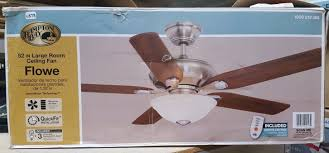 upc 082392999131 hampton bay ceiling fans flowe 52 in brushed
