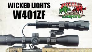 night hunting lights for scopes wicked hunting lights w401zf zoom focus night hunting light youtube