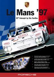 porsche racing poster porsche le mans 1997 poster d car art porsche racing posters