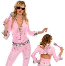 Elvis Halloween Costumes Elvis Costume Music Legs Vegas Rock Star Costume Pink