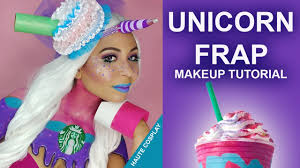 Unicorn Halloween Makeup by Unicorn Frappuccino Costume Makeup Tutorial Youtube