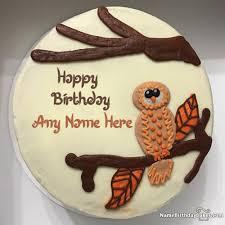 owl birthday cakes happy birthday cake for kids with name