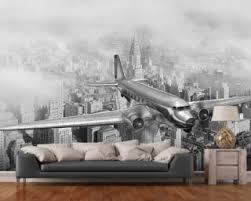 airplane wallpaper u0026 aircraft wall murals wallsauce
