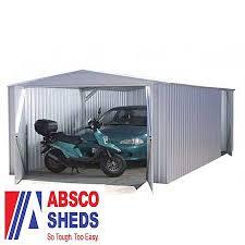 Absco Awning Absco 9ft 10 X 19ft 8 Titanium Easy Build Apex Metal Garage