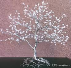 white beaded wire tree by arielgasca on deviantart