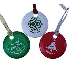 driven disc golf ornament set includes a variety of