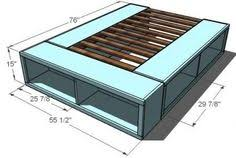 Platform Bed Frame Plans by Diy Bed Frame With Storage Small Bedrooms Pinterest Bed