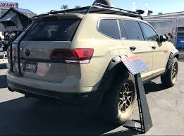 volkswagen atlas trunk tanner foust working on special vw atlas for sema 2018 2019 car