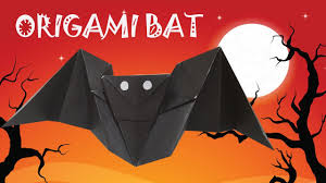 origami bat origami halloween origami easy youtube