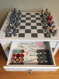 chess table end table to chess table guiding a friend u0027s project the