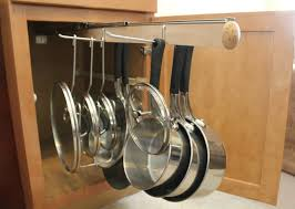 Kitchen Pull Out Cabinet by Legalized Pot Rack Pull Out Hanging Pot And Pan Lid Rack Cookware