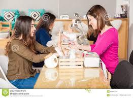 women at a nail salon stock photo image 65445321