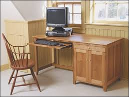 Plans For A Wooden Computer Desk by Computer Desk Project Plan By Fine Woodworking Woodworking