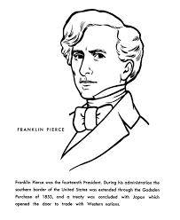 Usa Printables President Franklin Pierce Coloring Page Franklin Coloring Pages