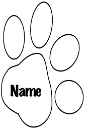 coloring page tiger paw paw print coloring page luxury paw print coloring pages in download