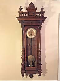 antique gustav becker vienna regulator wall clock 3 weights 1876