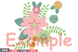 wedding flowers clipart wedding flowers vintage floral invitation cutting files svg eps