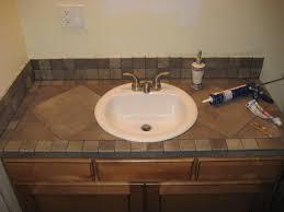 unique tiled bathroom vanity tops for home interior design ideas
