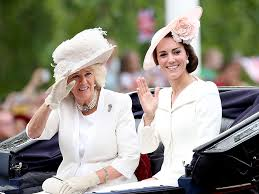 see princess kate in her carriage and prince william on his horse