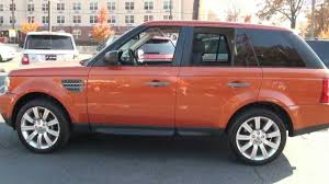 orange range rover svr 2006 land rover range rover sport sc vesuvius tour youtube