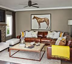 Aged Leather Sofa Distressed Leather Sectional Living Room Traditional With Leather