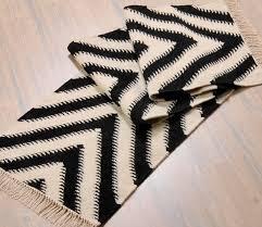White Runner Rug Black And White Runner Rug Carpet Runner Black White Carpet