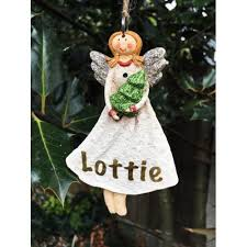 Personalised Christmas Angel Decorations by Christmas