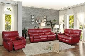 Red Loveseat Homelegance Red Leather Gel Reclining Sofa U0026 Loveseat Set Savvy