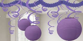 purple decorations purple decorations purple balloons banners confetti party