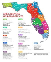 Southern Florida Map by Florida Department Of Elder Affairs Aging Resource Centers
