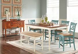 High Top Dining Room Table Sets Cindy Crawford Home Ocean Grove White 5 Pc Counter Height Dining