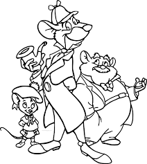 the great mouse detective coloring pages wecoloringpage