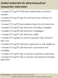 Resume Researcher Top 8 Pharmaceutical Researcher Resume Samples