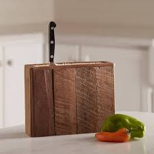 reclaimed wood knife blocks available in three sizes vivaterra