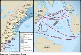 colonial america map colonial trade and products history for class