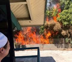 Hokkaido Buffet Long Beach Ca by Blaze Burns At Homeless Encampment Along 405 Freeway In Long Beach