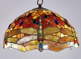 Dragonfly Light Fixture New Legend Style Stained Glass Dragonfly Hanging L