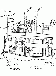 pleasure boat coloring page for kids transportation coloring