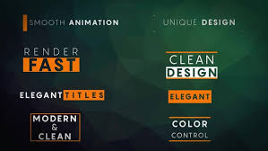 8 minimal titles after effects templates motion array