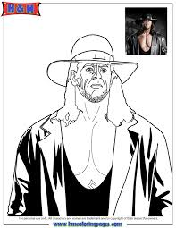 coloring pages wwe wrestlers coloring