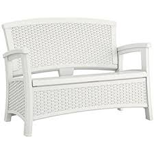 Amazoncom  Sahara Weather Resistant Outdoor Wicker Love Seat - White outdoor sofa