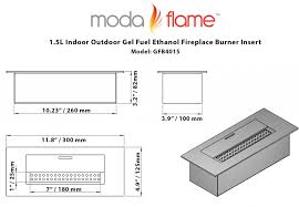 Bioethanol Fireplace Insert by Modern Home Interior Design Moda Flame 15l Indoor Outdoor