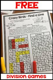 free no prep division games just print and play teaching ideas